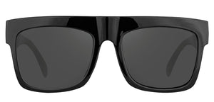 Midnight Black Square Non Polarised Sunglasses for Women Diva Front Angle