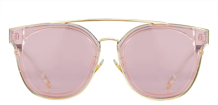Crystal Pink Cat Eye Non Polarised Sunglasses for Women Julie Front Angle