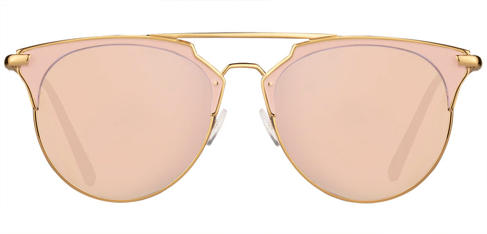 Rose Gold Cat Eye Non Polarised Sunglasses for Women Jacky Front Angle