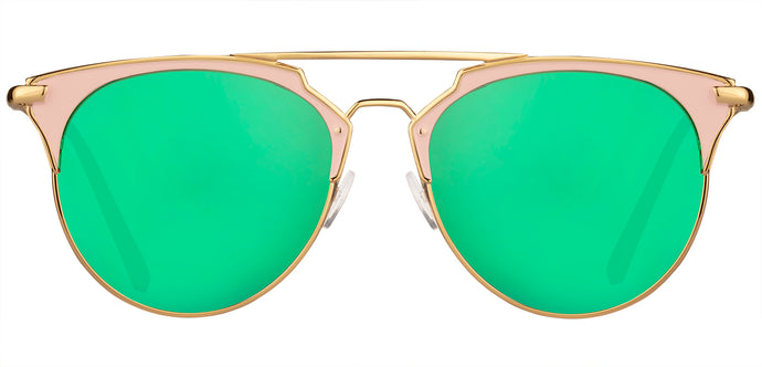 Sea Green Cat Eye Non Polarised Sunglasses for Women Jacky Front Angle