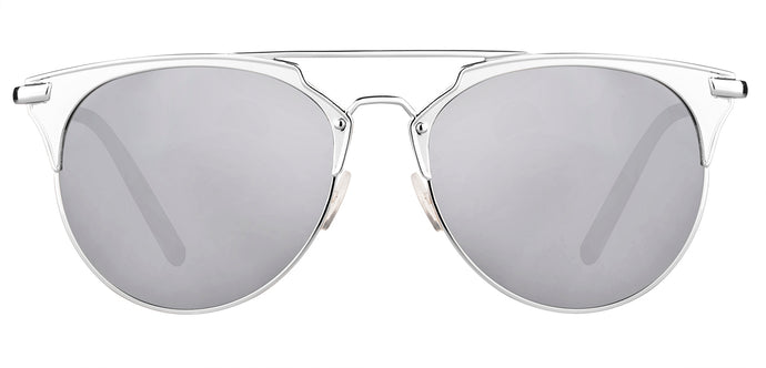 Bullet Silver Cat Eye Non Polarised Sunglasses for Women Jacky Front Angle