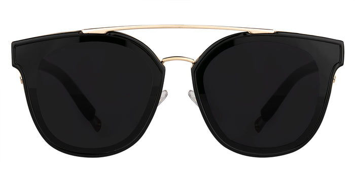 Midnight Black Cat Eye Non Polarised Sunglasses for Women Julie Front Angle