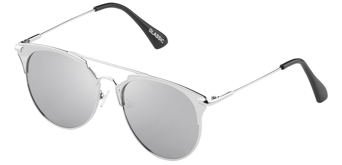 Bullet Silver Cat Eye Non Polarised Sunglasses for Women Jacky Side Angle