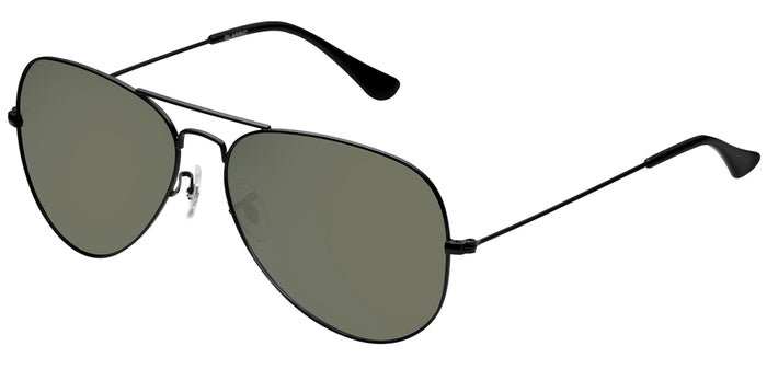 Midnight Black Large Pilot Polarized Sunglasses For Men - Marty - Side Angle