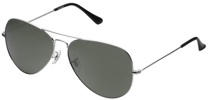 Silver Large Pilot Polarized Sunglasses For Women - Marty - Side Angle
