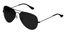 Deep Black Small Pilot Polarized Sunglasses For Women - Marty - Side Angle