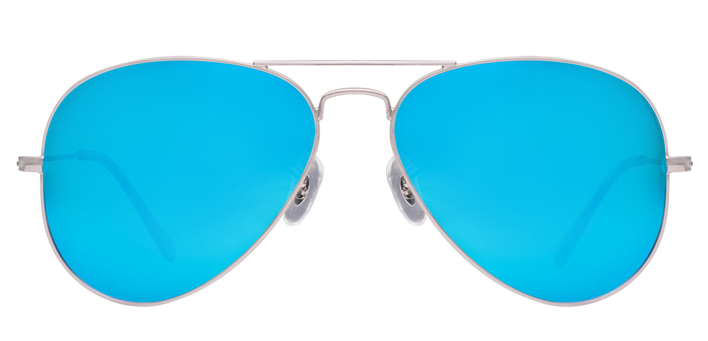 Aqua Blue Pilot Polarized Sunglasses For men - Marty - Front Angle