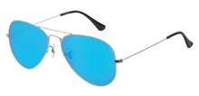 Aqua Blue Pilot Polarized Sunglasses For Men - Marty - Side Angle