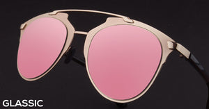 Rose Gold Cat Eye Non Polarised Sunglasses for Women Naomi AD
