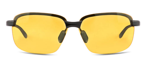 Amber Magic Rectangle Polarized Sunglasses for Men - Crosswind - Front Angle