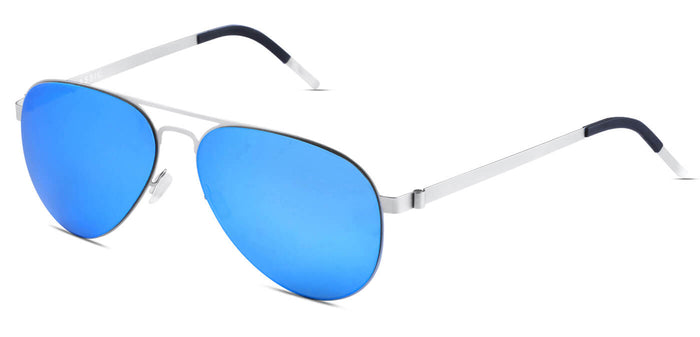 Aqua Blue Pilot Polarized Sunglasses for Men - Governor - Side Angle