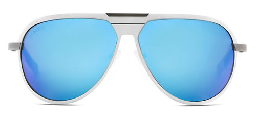 Aqua Blue Pilot Polarized Sunglasses for Men - Magneto - Front Angle