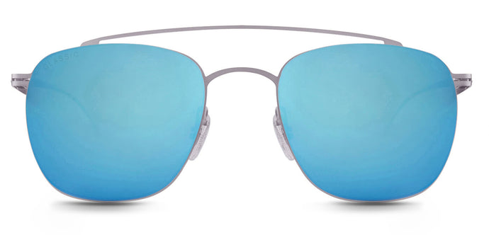 Aqua Blue Square Polarized Sunglasses For Men - Ace - Front Angle