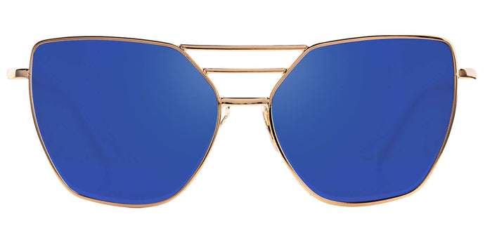 Beach Gold Cateye Sunglasses for Women Becky Front
