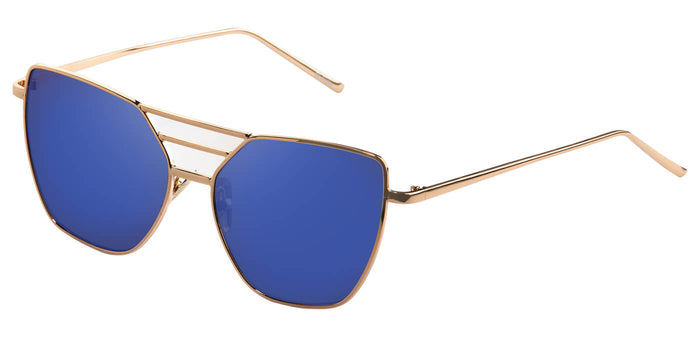 Beach Gold Cateye Sunglasses for Women Becky Side