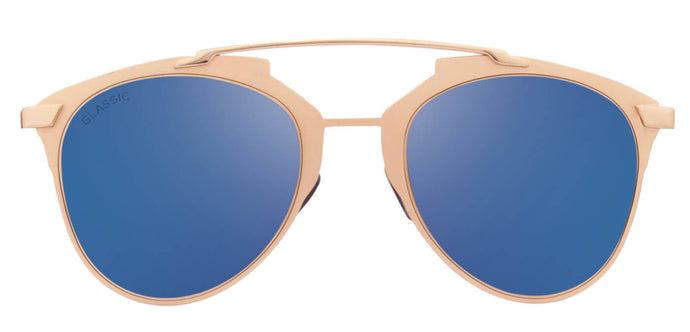 Beach Gold Cat Eye Non Polarised Sunglasses for Women Naomi Front