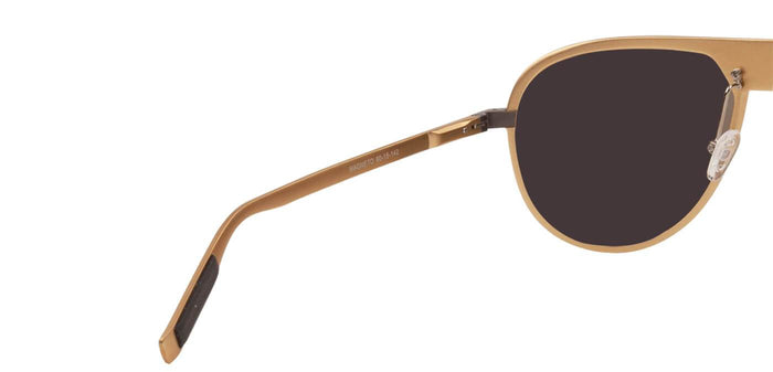Beach Gold Pilot Polarized Sunglasses for Men - Magneto - Back Angle