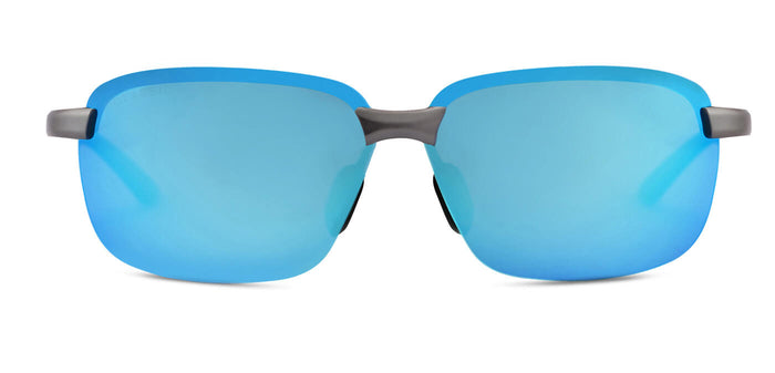 Blue Gun Rectangle Polarized Sunglasses for Men - Crosswind - Front Angle