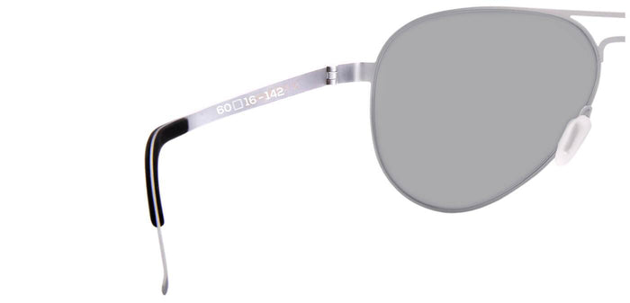 Bullet Silver Pilot Polarized Sunglasses for Men - Governor - Back Angle