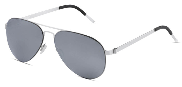 Bullet Silver Pilot Polarized Sunglasses for Men - Governor - Side Angle