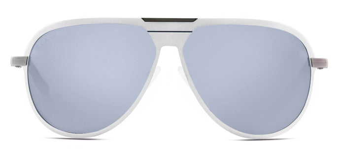 Bullet Silver Pilot Polarized Sunglasses for Men - Magneto - Front Angle