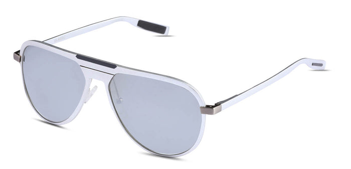 Bullet Silver Pilot Polarized Sunglasses for Men - Magneto - Side Angle