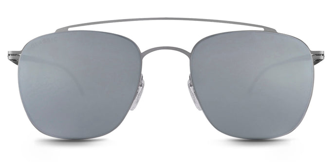 Bullet Silver Square Polarized Sunglasses for Men - Ace - Front Angle