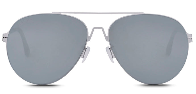 Bullet Silver Pilot Polarized Sunglasses for Men - Knot - Front Angle