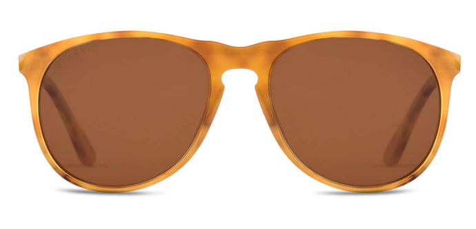 Caramel Crush Pilot Polarized Sunglasses for Men - Banner - Front Angle