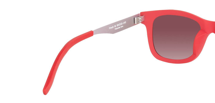 Cherry Red Square Polarized Sunglasses for Men - Finch - Back Angle