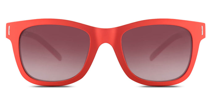 Cherry Red Square Polarized Sunglasses for Men - Finch - Front Angle