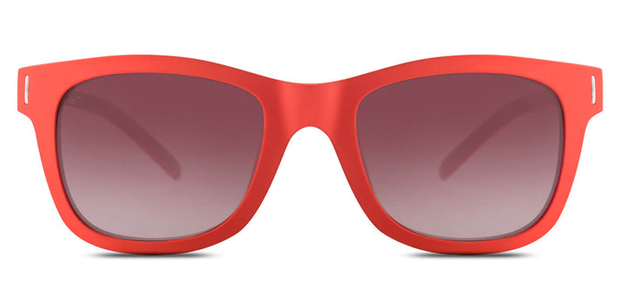 Cherry Red Square Polarized Sunglasses for Women - Finch - Front Angle