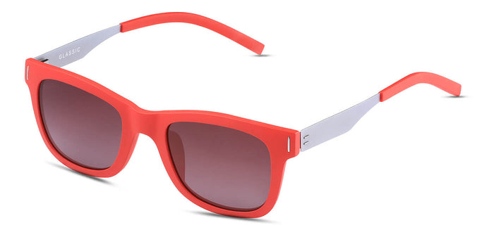 Cherry Red Square Polarized Sunglasses for Women - Finch - Side Angle