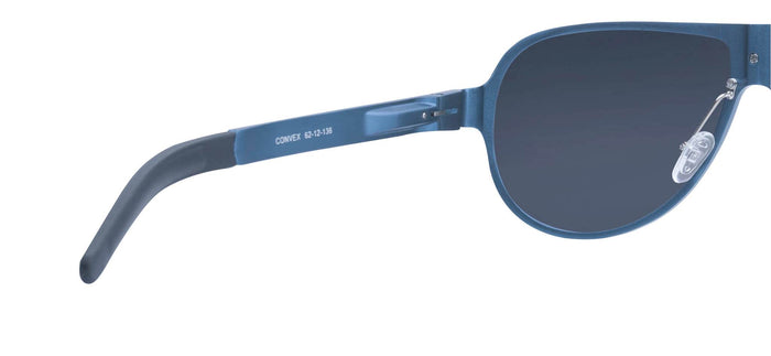Chrome Blue Pilot Polarized Sunglasses for Men - Convex - Back Angle