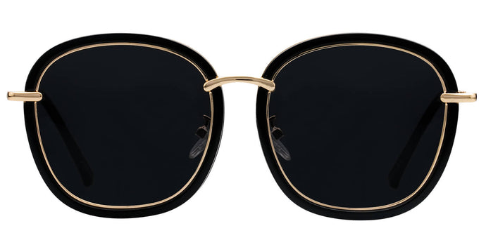 Deep Black Cat Eye Polarized Sunglasses For Women Faith Front