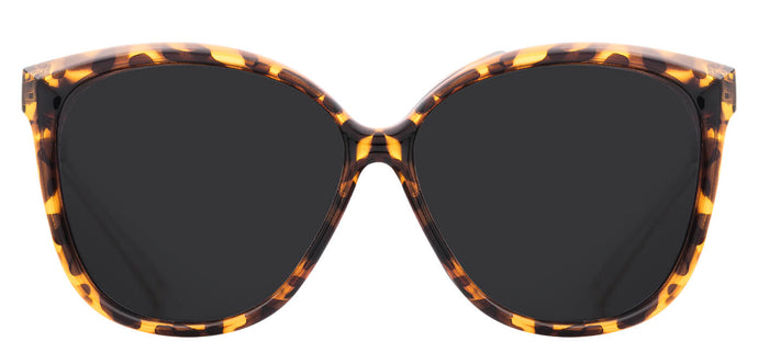 Deep Black Cat Eye Polarized Sunglasses For Women Grace in Tortoise Front