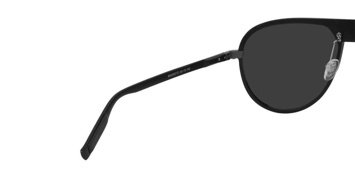 Deep Black Pilot Polarized Sunglasses for Men - Magneto - Back Angle