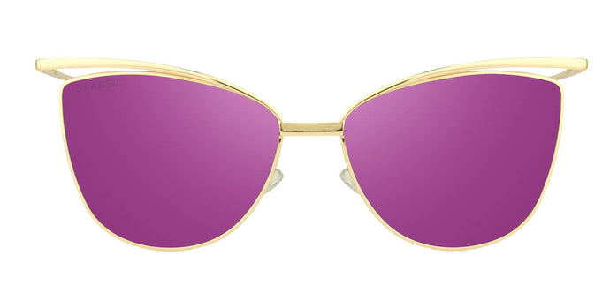 Deep Purple Cat Eye Non Polarised Sunglasses for Women Chelsea Front