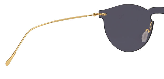 Dusk Gold Round Non Polarized Sunglasses for Men - Alex - Back Angle