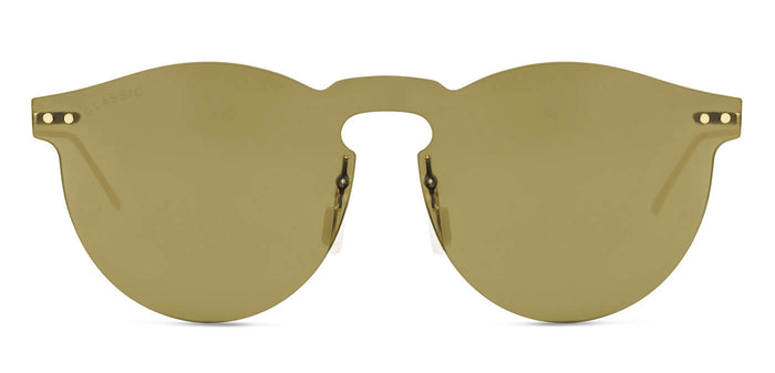 Dusk Gold Round Non Polarized Sunglasses for Women - Alex - Front Angle