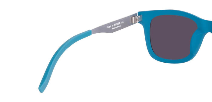 Electric Blue Square Polarized Sunglasses for Men - Finch - Back Angle