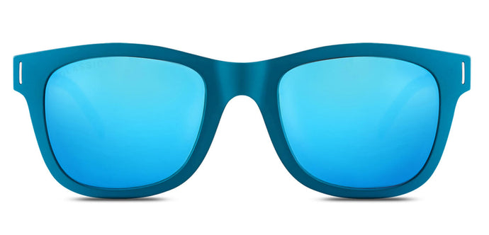 Electric Blue Square Polarized Sunglasses for Women - Finch - Front Angle