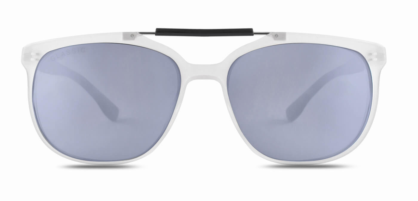 Frosted Ice Square Polarized Sunglasses for Men - Kingpin - Front Angle
