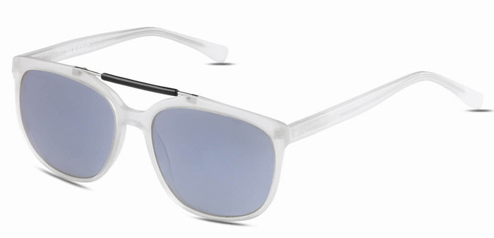 Frosted Ice Square Polarized Sunglasses for Men - Kingpin - Side Angle