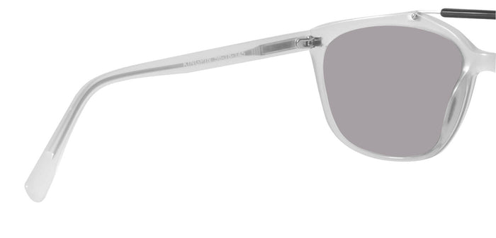Frosted Ice Square Polarized Sunglasses for Men - Kingpin - Back Angle