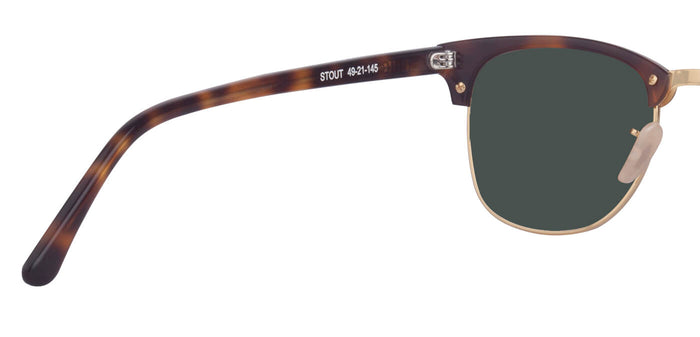 Tortoise Square Polarized Sunglasses for Men - Stout - Back Angle