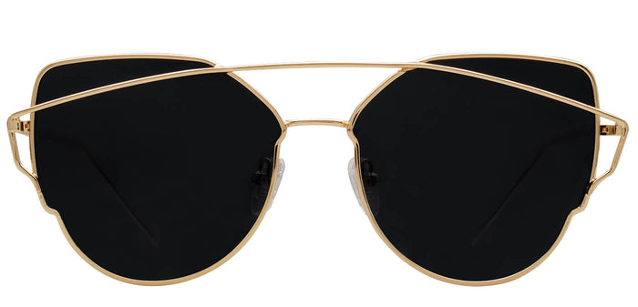 Gold Cat Eye Polarized Sunglasses For Women Beth Front