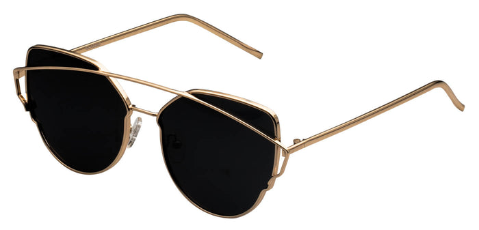 Gold Cat Eye Polarized Sunglasses For Women Beth Side