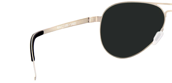 Gold Pilot Polarized Sunglasses for Men - Governor - Back Angle