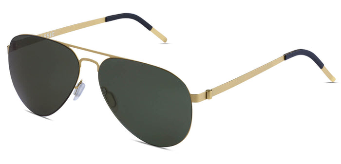 Gold Pilot Polarized Sunglasses for Men - Governor - Side Angle